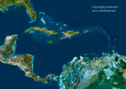 Big Caribbean Satelite Map